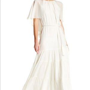 Rachel Zoe Melina White Silk Maxi Dress Size 8